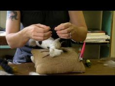 ▶ Needle Felting Tutorial - Sarafina Fiber Art Goat Series 8: Finishing the Face - YouTube