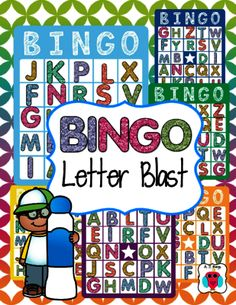 Bingo Letter Blast from magazine21 from magazine21 on TeachersNotebook.com (10 pages)  - Bingo Letter Blast