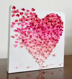 Cuadro Corazón de Mariposas  Visto en livingho.me