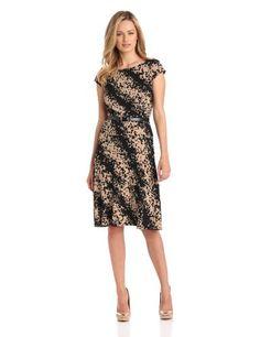 Anne Klein Women's Cap Sleeve Print Dress  http://voceri.com/product/anne-klein-womens-cap-sleeve-print-dress/