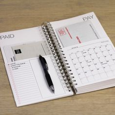 DIY bills calendar.
