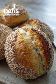 Sesame Mini Breads – Yummy Recipes – Sweet World Ideas Bread Recipes, Snack Recipes, Cooking Recipes, Ice Cream Cookie Sandwich, Tasty, Yummy Food, Delicious Recipes, Punch Recipes, Artisan Bread
