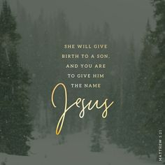 And she shall bring forth a son, and thou shalt call his name JESUS: for he shall save his people from their sins. Matthew 1:21 KJV https://bible.com/bible/1/mat.1.21.KJV