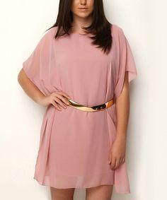 Another great find on #zulily! Powder Cape-Sleeve Dress - Plus #zulilyfinds