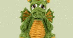 Amigurumi Crochet Dragon Pattern, Crochet Amigurumi Free Patterns, Crochet Baby Toys, Crochet Food, Baby Presents, Knitting Toys, Crochet Projects, Doll Clothes, Yoshi