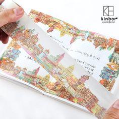 和纸胶带 kinbor手帐装饰贴纸锦城故事手账