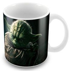 Caneca Porcelana Personalizada Star Wars Mestre Yoda