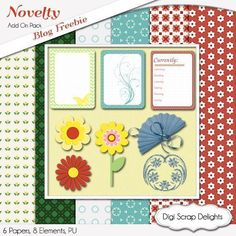 Digital Scrapbook Freebie with Project Life Journal Cards