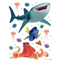 Szenilla nyomában gyerekszoba falmatrica (65 x 85 cm) Disney Pixar, Heros Disney, Brown Bottles, Macbook Wallpaper, Stickers Online, Baby Nursery Decor, Dory, Wall Stickers, Decoration