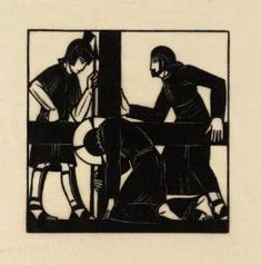 Eric Gill 'Jesus Falls the Second Time', 1917