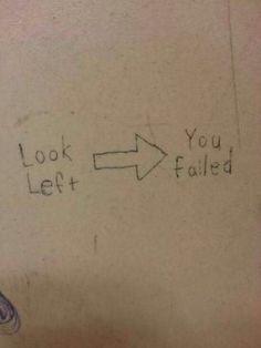 Funny Bathroom Wall Graffiti funny bathroom wall quote | pinterest bathroom ideas | pinterest
