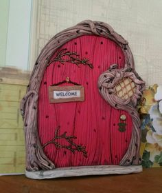 Check out this item in my Etsy shop https://www.etsy.com/listing/262634529/fairy-door-personalized-1093-gnome
