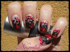 Look de uñas Nº 167. Flores rojas - Noxelia