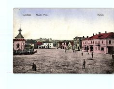 Slonim Marketplace, antique postcard (ebay.de) Poland, Taj Mahal, Louvre, Ebay, Marketing, Antiques, Building, Ukraine, Russia