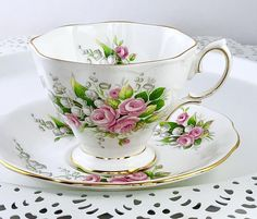 Your place to buy and sell all things handmade China Cups And Saucers, China Tea Cups, Flower Tea, My Cup Of Tea, China Patterns, Royal Albert, Tea Cup Saucer, Vintage Tea, Teapots