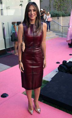 Fetichista de moda -Wine Leather Dress.