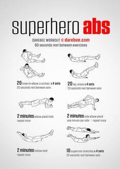 Superhero Abs workout.