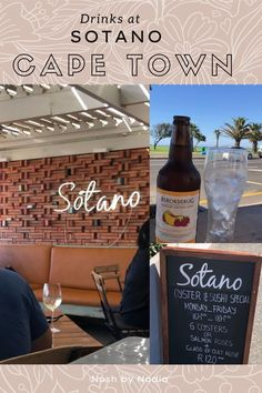 Sotano is across the road from a great Cape Town hot spot. The promenade in Green Point is a great place for getting in your steps. Ocean views for days. Walking along the promenade this seems to be a regular spot to stop and have a drink. Chilled vibes with that sea side style that I adore. Sea Side, Ocean Views, Cape Town, Places To Eat, Oysters, Walking, Drinks, Hot, Green