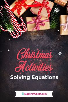 What could be better than FREE Solving Equations Christmas Coloring Worksheets? Ten of them! We have created 10 Christmas math coloring worksheets for you to use during the days leading up to the holiday break. Start your lesson planning here...#algebra1coach #math #mathactivities #printables #algebra #highschool #funmath #teacher