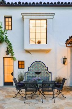 Spanish Revival - mediterranean - Patio - Santa Barbara - Landmark Construction
