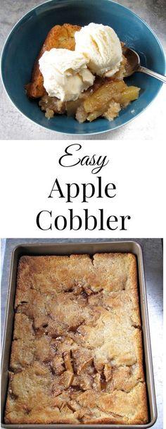 Easy Apple Cobbler from missinthekitchen.com