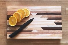 BUTCHERS BLOCK Cutting Board Navajo Aztec Native by KnotAndSteelCo Home & Living  Kitchen & Dining  Cookware  Cutting Boards  cutting board  butcher block  Navajo  Pendleton  West Elm Aztec  Mid Century  Native American  Log Cabin  BOHO  Moroccan  Tribal  Geometric