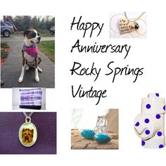 Happy  Anniversary, Rocky Springs Vintage by gail-brigham on Polyvore featuring vintage