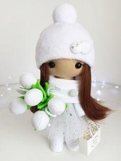 Doll Christmas new year Winter snowy holiday doll Handmade soft fabric christmas toys Textile interior doll home decor Christmas Toys, Christmas And New Year, Doll Home, Special Girl, Handmade Items, Handmade Gifts, Fabric Dolls, Girl Gifts, Soft Fabrics
