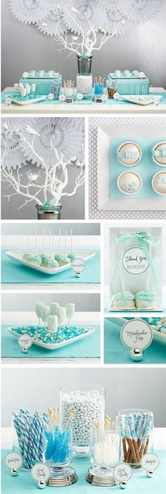 A very fancy #winterparty, perfect for a shabby-chic take on the #frozentheme.
