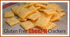 Gluten Free Cheez-It Crackers