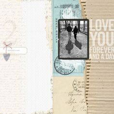 Forever and a Day couples love scrapbook page #designerdigitals