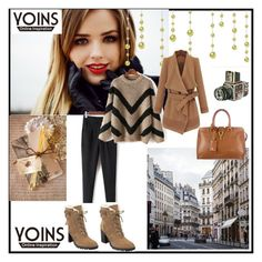 """YOINS 19"" by ramiza-rotic ❤ liked on Polyvore featuring Ivanka Trump, Yves Saint Laurent and Sounds Like Home"