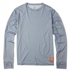 Burton Mens Snowboard First Layer Lightweight Crew Heather Grey