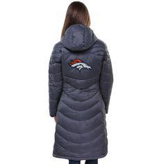 Pro Line Denver Broncos Womens Siberian Puff Full Zip Jacket - Gray