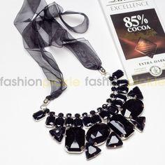 Uster Black Stones Statement Necklace