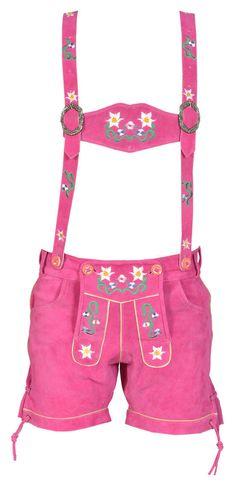 Ladies Womens Bavarian LEDERHOSEN Oktoberfest /Party Matching Suspenders Leather #Unbranded