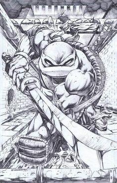 Teenage Mutant Ninja Turtles - Leonardo by Emil Cabaltierra Comic Book Characters, Comic Books Art, Comic Art, Ninja Turtles Art, Teenage Mutant Ninja Turtles, Arte Dc Comics, Tmnt Comics, Comic Drawing, Cartoon Art