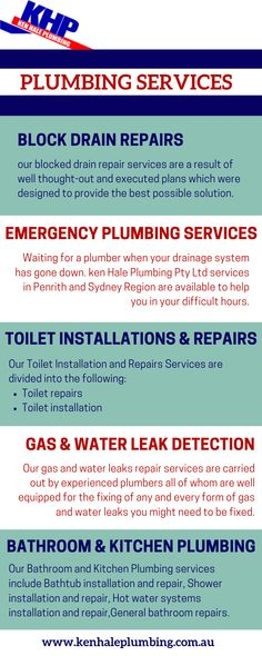 At Ken Hale Plumbing, all our plumbing services are solutions designed specifically for your plumbing needs. Our solutions are designed by our qualified and certified plumbing technicians in other to provide the most effective solution to your needs. Certified Plumbing, Toilet Installation, Drain Repair, Plumbing Emergency, Penrith, Thoughts, How To Plan, Design
