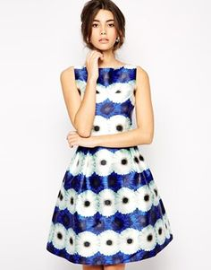 Enlarge Chi Chi London Print Midi Prom Dress