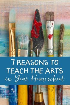 When our schedules get busy, the arts are usually the first thing to get dropped from our homeschool lesson plans. Find out why they're important and how to easily add them back in! #homeschool #art #arthistory