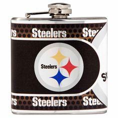 Steelers NFL 6oz Metallic Wrap Flask