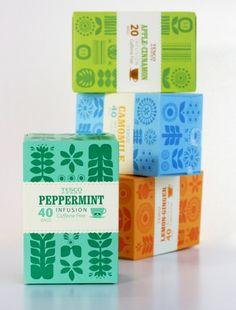 イギリスの紅茶のパッケージ。かわいい。(via Tesco Herbal Tea)
