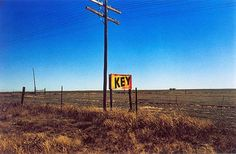 William Eggleston, Untitled (Key Sign) from Lost and Found