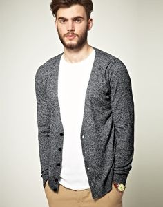 ASOS Cardigan in Black and White Twist - StyleSays