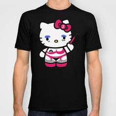 Evil Kitten: Hello Titty T-shirt by kxyzle - $22.00