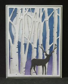 *QFTD187 In the Birch Forest by hobbydujour - Cards and Paper Crafts at Splitcoaststampers