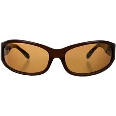 Pre-owned Oliver Peoples Resin Gradient Lens Sunglasses (430 DKK) ❤ liked on Polyvore featuring accessories, eyewear, sunglasses, brown, gradient lens sunglasses, oliver peoples sunglasses, oliver peoples eyewear, brown glasses and brown sunglasses