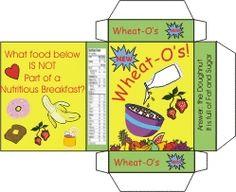 printable mini food boxes for Barbies & dollhouses.