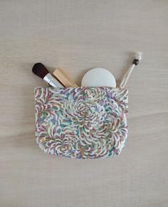 Christa makeup bag - flower pattern cosmetic bag