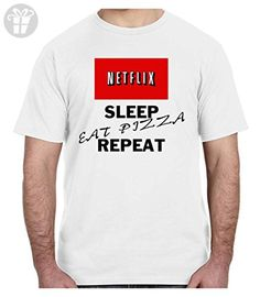 Netflix Sleep Eat Pizza Repeat T-shirt Relax Chill Meme Style Gift Clothing (3XL) (*Amazon Partner-Link)
